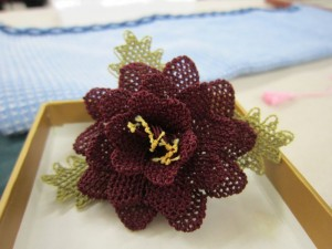 Example of Oya needle Lace